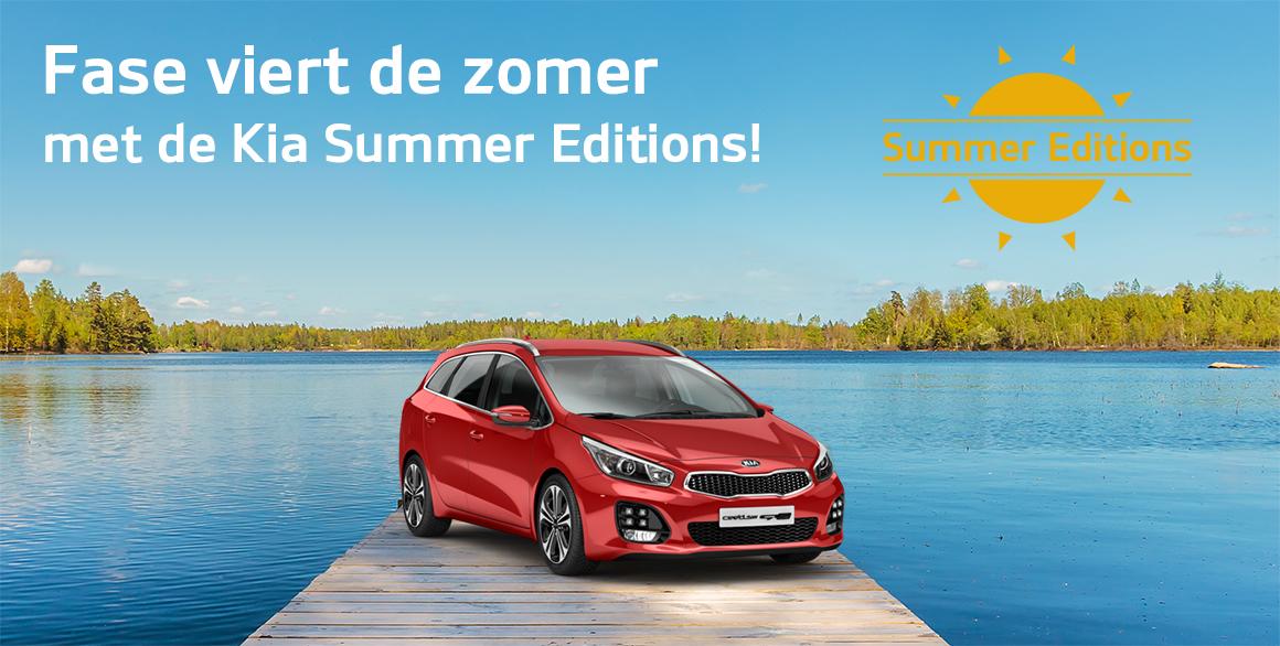 Tot € 2.250,- voordeel met de Kia Summer Editions