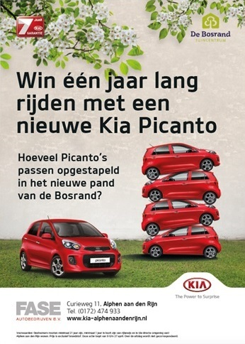 Doe mee: win een jaar lang GRATIS rijden in een Kia Picanto